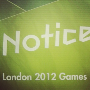 Notice London 2012 Games