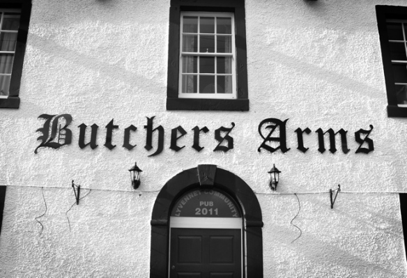 The Butchers Arms is a community pub in the tiny village of Crosby Ravensworth. When the oub closed down several years ago, the local community grouped together, bought the pub and refurbished the place.