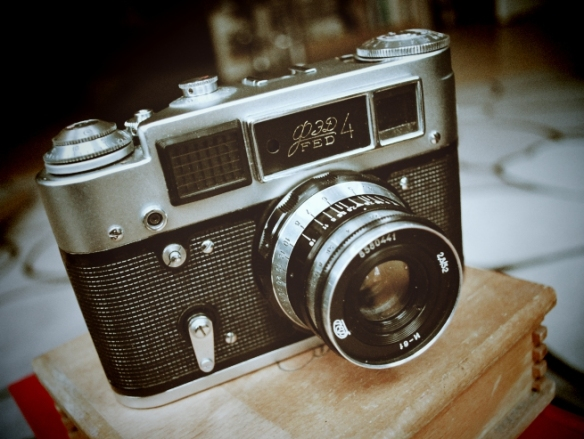 Object 4: A 1960s Soviet Fed4 Camera. No I have no idea what all the knobs on the top are for either.
