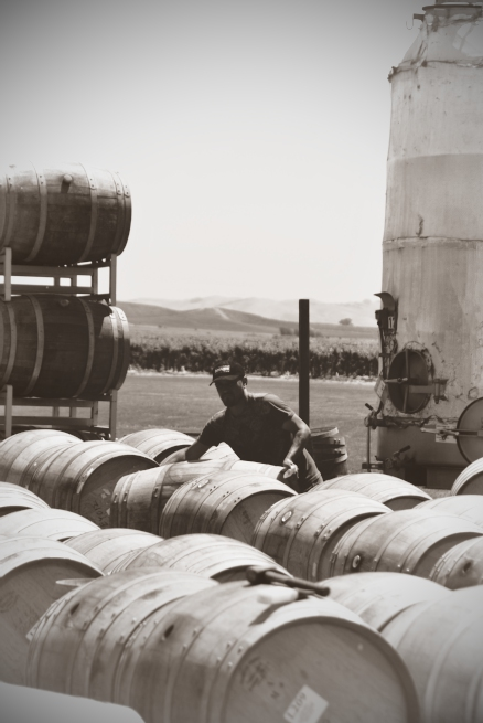 Vintage Barrel Man