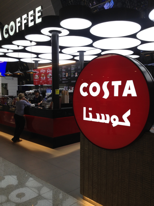 Costa Coffee: It gets everywhere. There's probably some witty joke about arabica coffee beans to be made here, but to be frank I'm just too tired.
