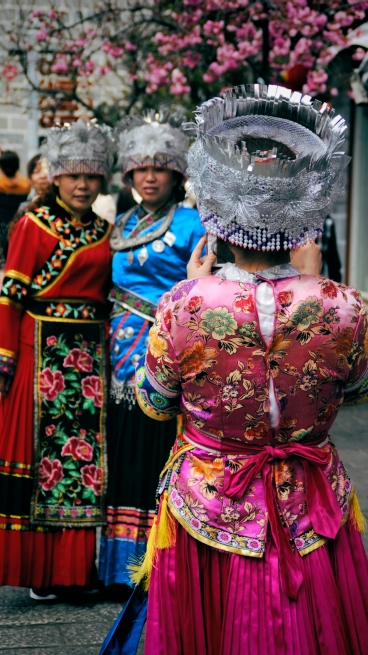 In Dali and Lijang, there was a big business of renting out the traditional dress of different ethnic minority groups so that Han Chinese tourists could dress up, have their photos taken and laugh at how funny they looked.
