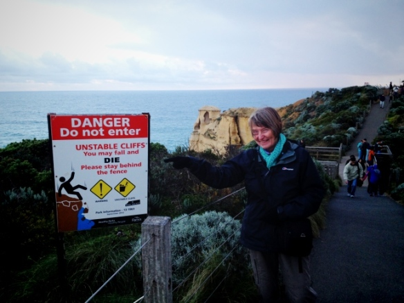 My mum laughs in the face of danger.
