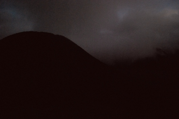 A  volcano. In the dark. About as exciting as this photo.